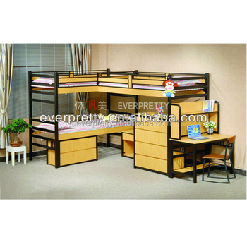 Bunk Beds With Three Beds,wooden Double Bed With Drawers,kids Double Deck  Bed