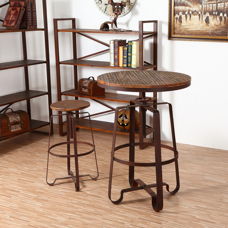 Small Wood Table And Chairs: Wrought Iron Balconies Combination Coffee Table And Chairs