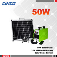 solar power irrigation system,solar power for homes(50W solar panel with led light&control box&battery)