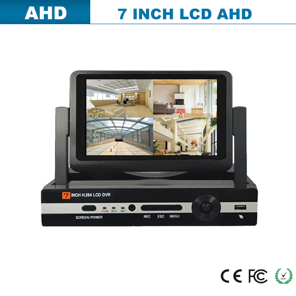 a dvr Built-in 7 inch LCD up to 8 cameras with HD display WITH ONVIF Multiple DDNS P2P Cloud