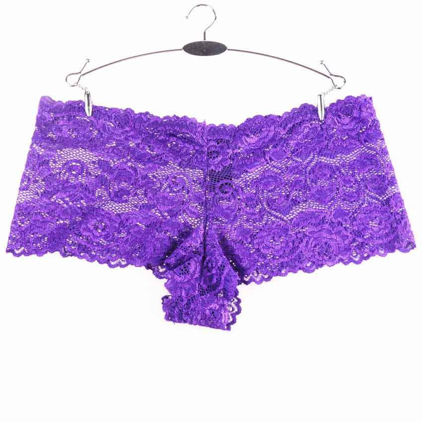 6bd24cbaf Get Quotations · 4XL Plus Size Sexy Underpants Women Boxer Shorts Lace  Panties Boyshort Female Knickers Full Lace Transparent