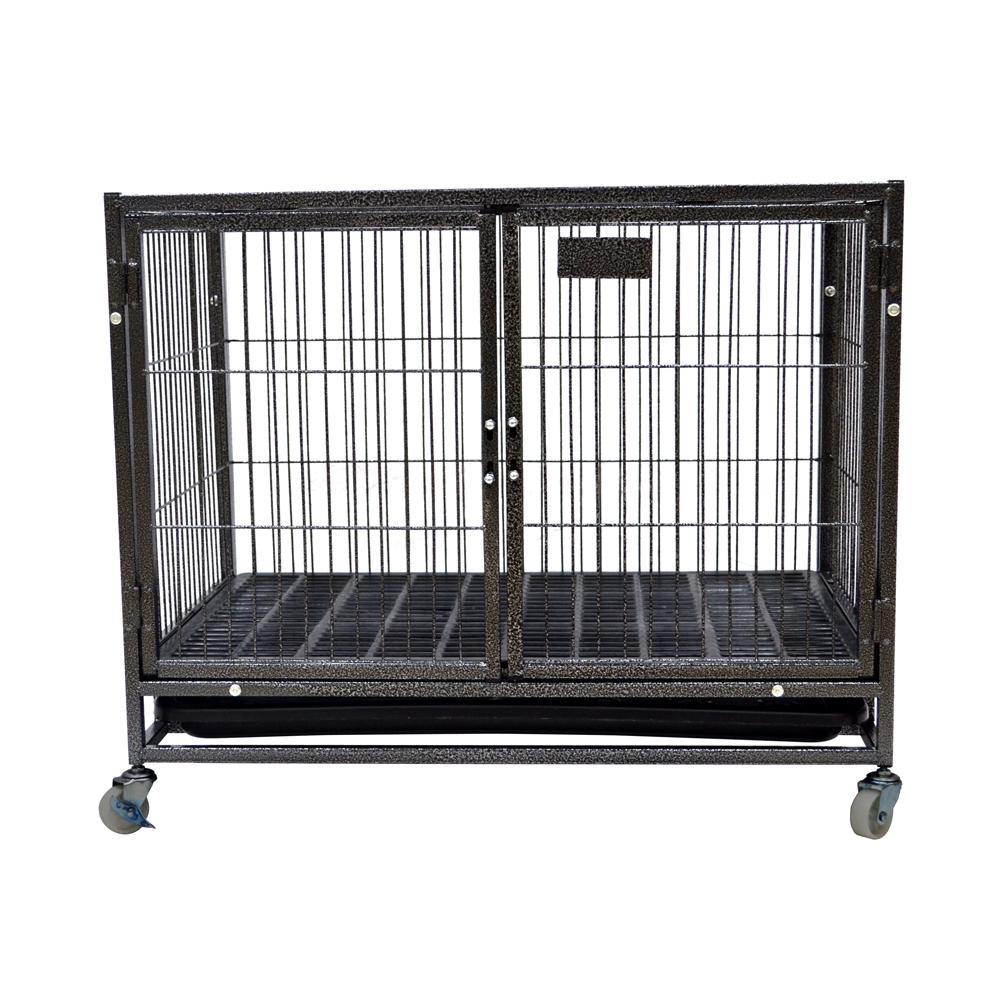थोक मॉड्यूलर धातु लोहा वेल्डिंग तार जाल धातु पालतू कुत्ते Kennels पिंजरे बिक्री के लिए सस्ते
