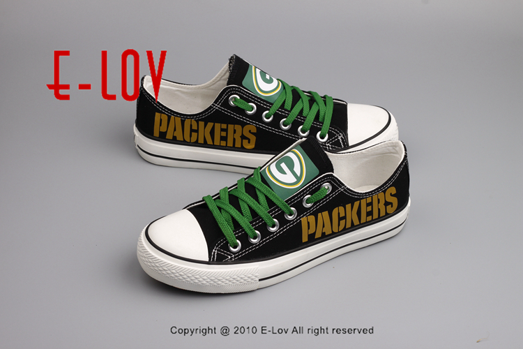 2998243b761 Wisconsin Super Bowl Printing Canvas Shoes Elite Aaron Rodgers MVP ...