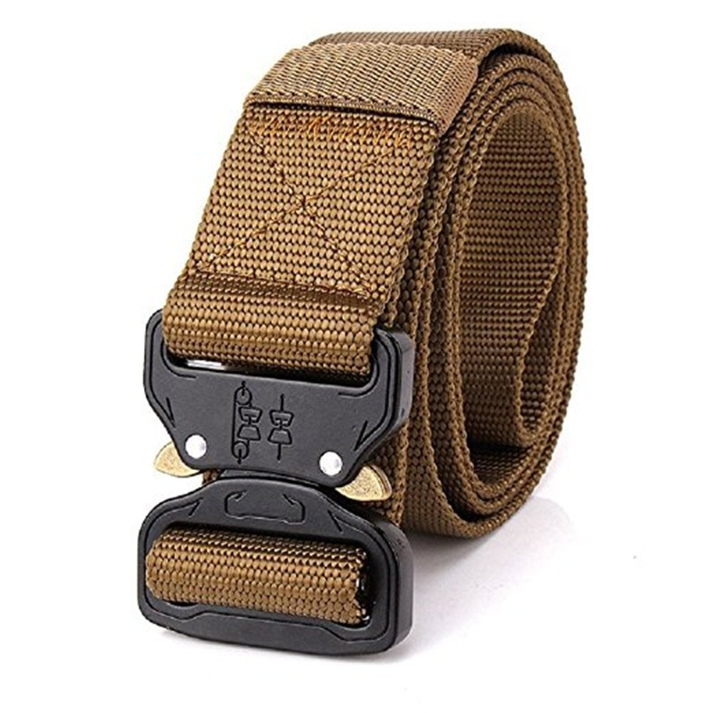 XUEXUE Mens Outdoor Belt,Nylon Military Automatic Buckle Belt,Outdoor Durable Wide Waist Belt ,Convenient for Hiking//Camping Outdoor Classic,Quick Dry Color : E, Size : 125cm