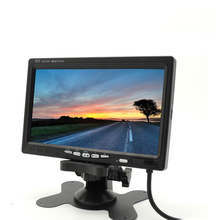 Mini simples 12 V-24 V 7 polegadas 800*480 TFT LCD Carro Rear view Monitor Com CE
