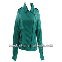lady's cheap clothing from turkey leather jacket
