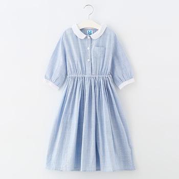 d71129b9fc Estilo fresco media manga azul marino niños vestidos casuales de moda  adolescente niño ropa de algodón