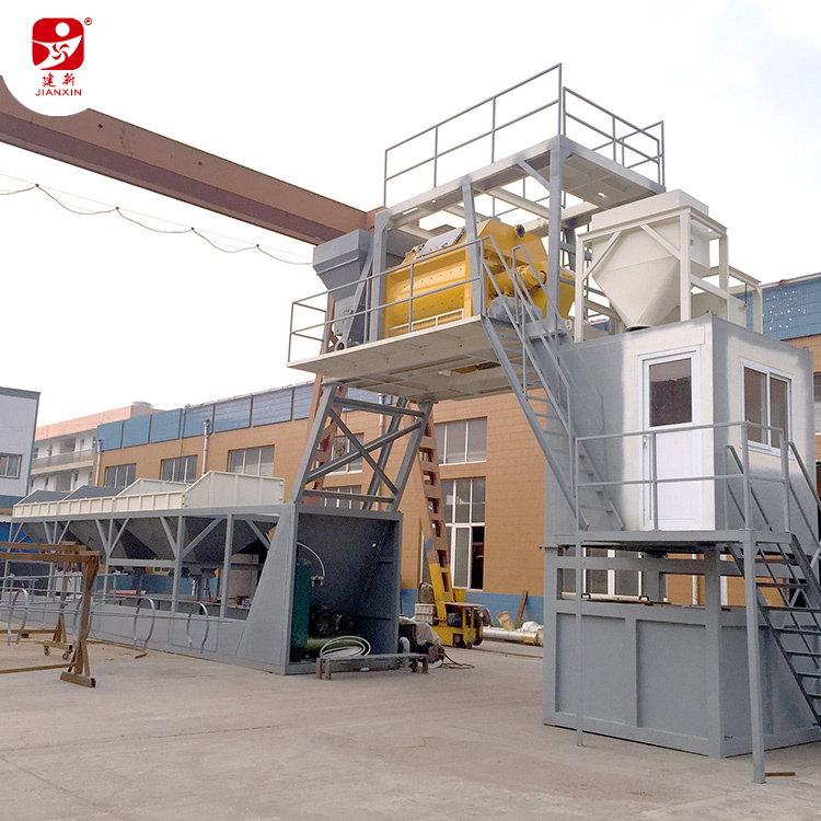 Geen foundation HZS180 betoncentrale 3000 Sicoma betonmixer PLD4800 batching machine met 150Ton cement silo