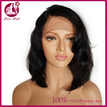 Hot Style Side Part 100 Indian Human Hair Wigs Short Hair Wigs