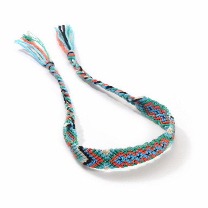 Bohemian ethnic wind braided friendship bracelet colorful totem jewelry Nepal bracelet фото