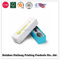 Paper Gift Custom Cardboard Boxes With Printing White Folding Box For Toothbrush