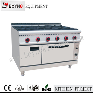 China Factory 6 burner gas range/commercial gas cooker 6 burner