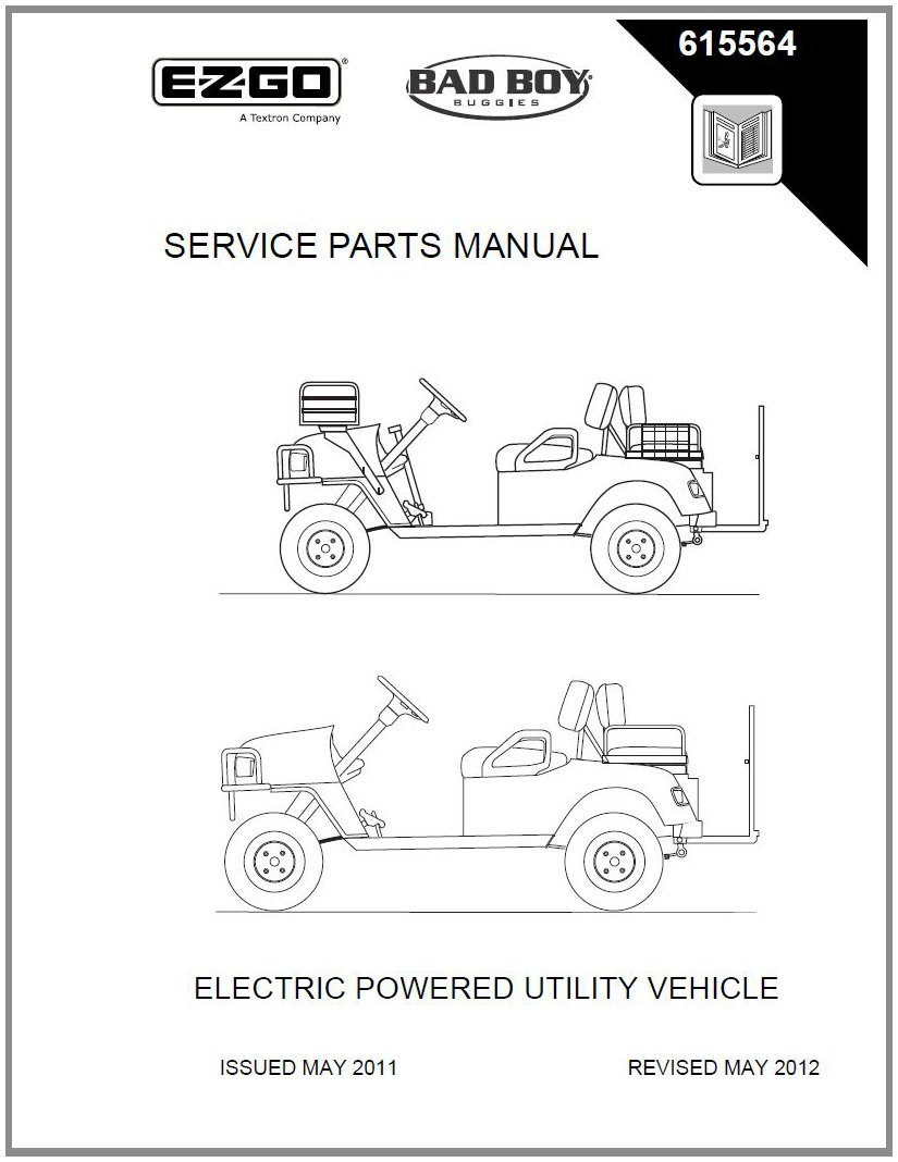 Get Quotations · EZGO 615564 2009 Current Service Parts Manual for EZGO ST  Custom 2+2 Electric Vehicle