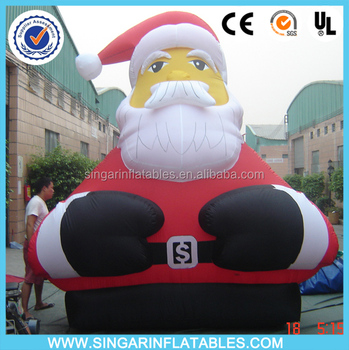 outdoor christmas decorations large lowes christmas inflatables sitting santa claus - Outdoor Christmas Inflatables