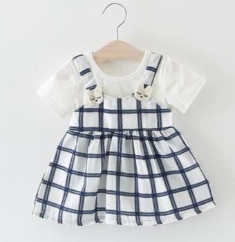 a6d7b7f5c222 New Summer Cotton New Born Baby Dress Big bow Infant Girl Clothes Lace  Princess Dress Toddler