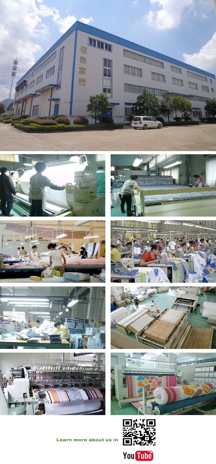 China manufactures egyptian cotton bed linen