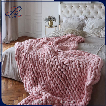 New Fashion Thick Giant Yarn Hand Made Wholesale Chunky Knit Merino