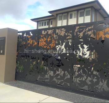 Good Quality Decorative Garden Buildings Laser Cutting Gate Stainless Steel  Black Outdoor Laser Cut Fence - Buy Decorative Good Quality Garden