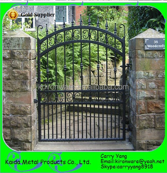 Chinese Factory Decorative Wrought Iron Gates Design