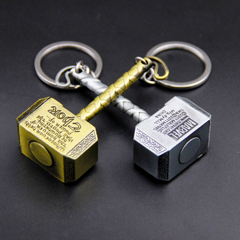 2019 New Style Thor Key Chain Avengers Thor Hammer Keychain