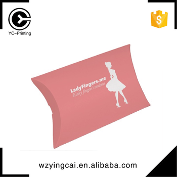 New design various underwear hair extension pillow box packaging