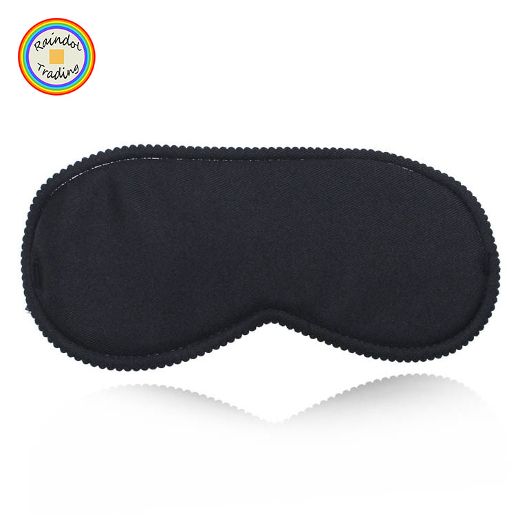 YWSA027 RDT Logo Custom Home Office Travel Promotie Sleep Rest Ogen Cover Light-proof Zwart Slaapmasker Oogmasker zonder ijs Zak