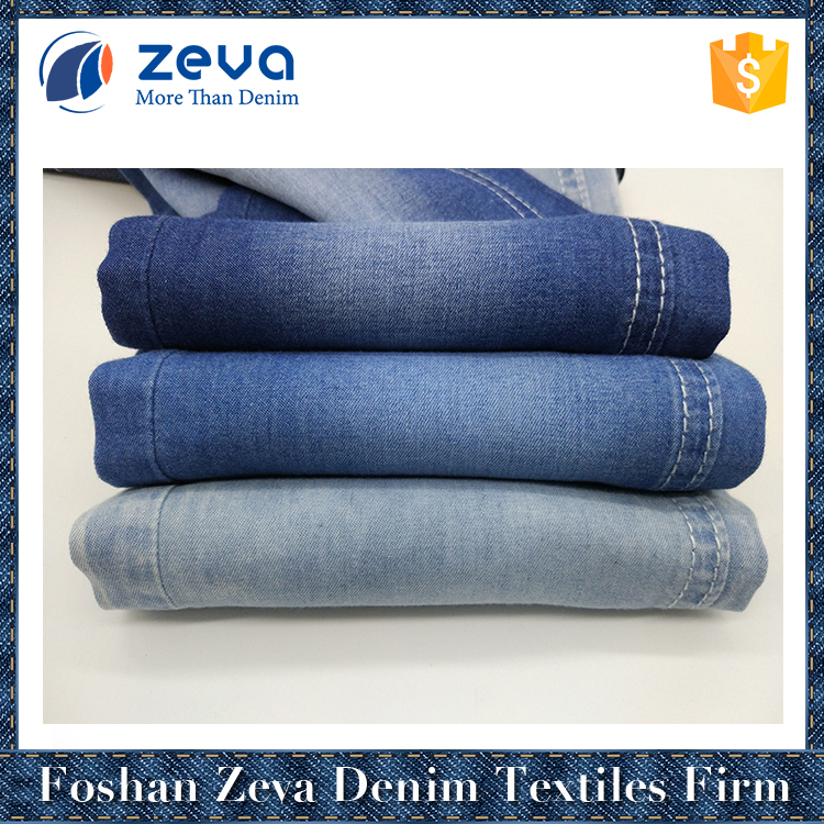 High quality navy blue 1/2 plain weave denim fabric textile material for cloth