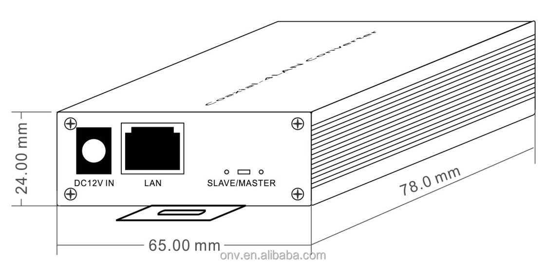 10  100m ethernet over coax to rj45 converter rs485 coaxial