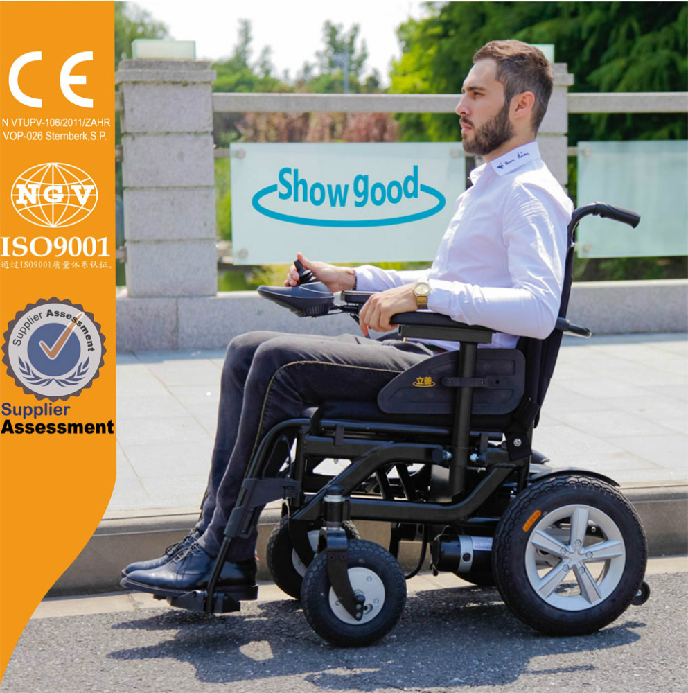 Showgood electric power wheelchair for handicapped
