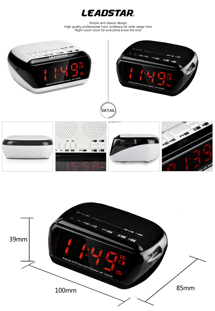 12 years gold supplier oem odm phone remote wireless radio alarm clock with mp3 player buy. Black Bedroom Furniture Sets. Home Design Ideas