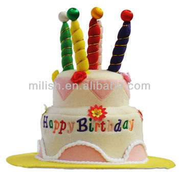 Adult Happy Birthday Day Cake Shape Hat Mh 1716