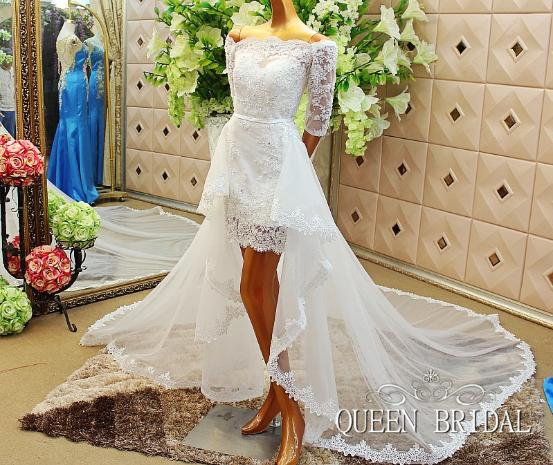 Wedding Dresses With Detachable Tail: Aliexpress.com : Buy A Line Short Wedding Dress With
