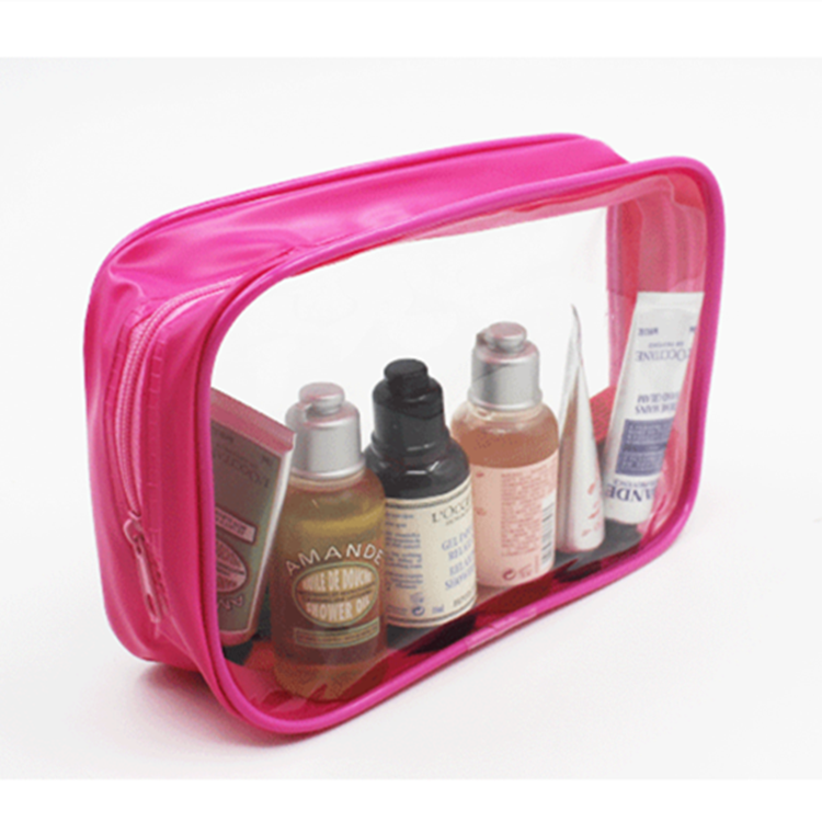 Custom logo high quality waterproof small clear pvc make up brush bag,pvc zipper bag with make up travel pouch bag