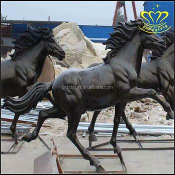 Garden Ornament Life Size Metal Bronze Horse Statue