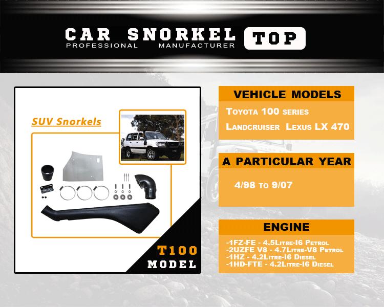 4x4 Pickup Parts Snorkel Of 100 Series Landcruiser Lexus Lx 470 - Buy  Snorkel Of 100 Series,4x4 Parts Snorkel,4x4 Pickup Snorkel Product on