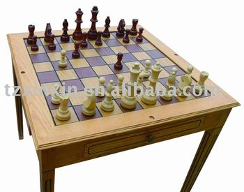 Wooden Outdoor Chess Table Chess And Checker Table For Faimly Entertainment    Buy Outdoor Chess Table,Wooden Chess And Checker Table,Backgammon Chess  ...