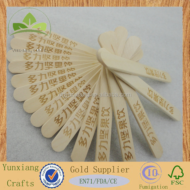 wholesale ice cream sticks birch wood A grade round edge popsicle sticks