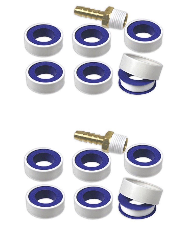 "JF 12-Rolls Teflon Tape Plumbing Pipe Thread Seal & Fitting Sealant 1/2"" x 260"" Roll"