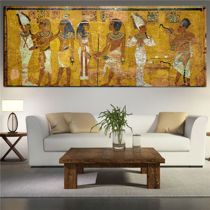 Living Room Wall Decor Pictures: Egyptian Decor Canvas Painting Oil Painting Wall Pictures