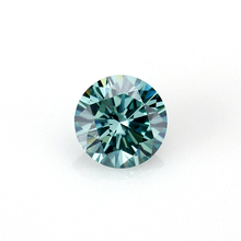 Round brilliant cut loose gemstones excellent quality moissanite 0.6ct dark green moissanite