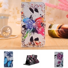 Huawei Y360 Case Butterfly red heart Pattern Leather Wallet Huawei Y3 Y3C Y336 Phone Case TPU Back Cover Flip Stand Card Holder
