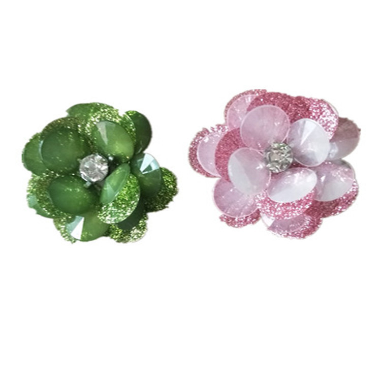 GUGUTREE handmade beaded embroidery sew on flower patches,embroidered pearls crystals appliques,brooches BBP-98