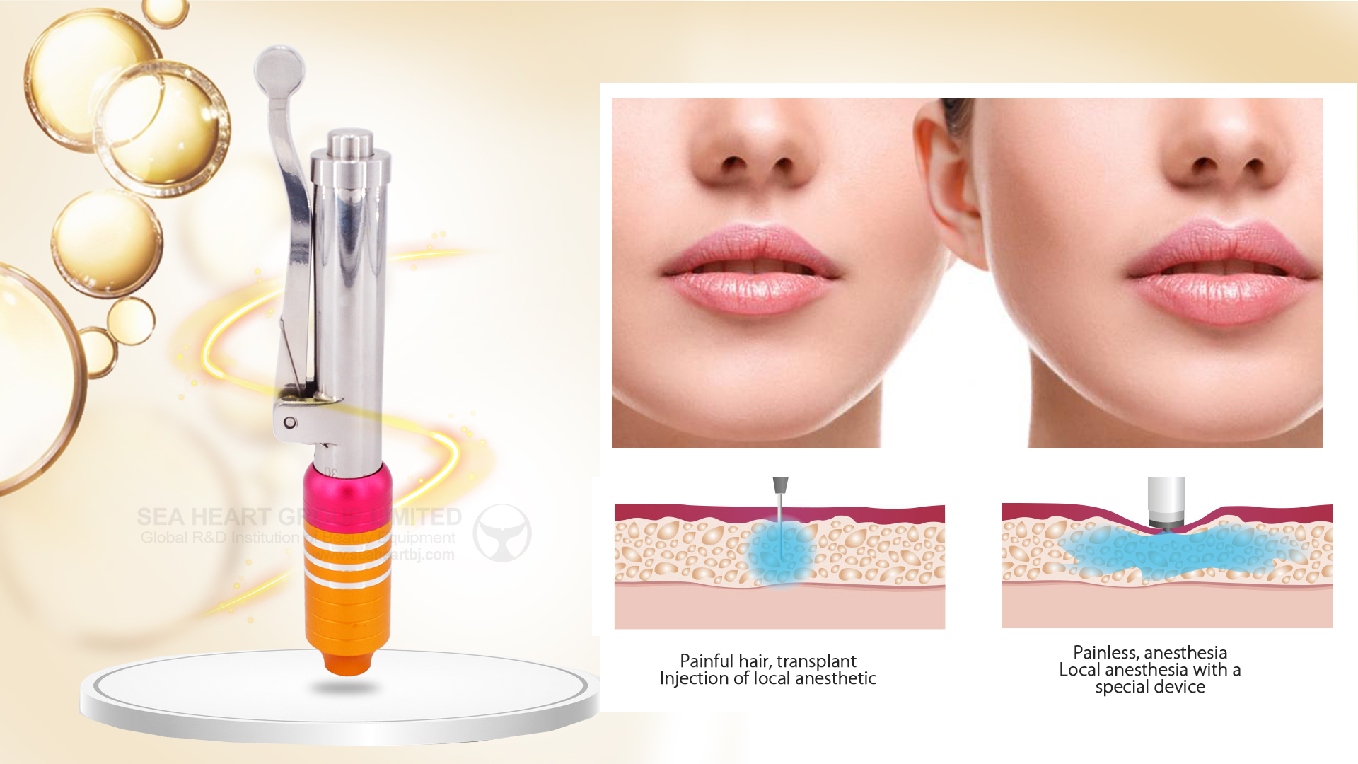 Needle Free High Pressure Hyaluron Injection Pen Hyaluronic Acid Pen - Buy  Hyaluronic Acid Pen,Hyaluron Injection Pen,Hyaluron Injection Product on