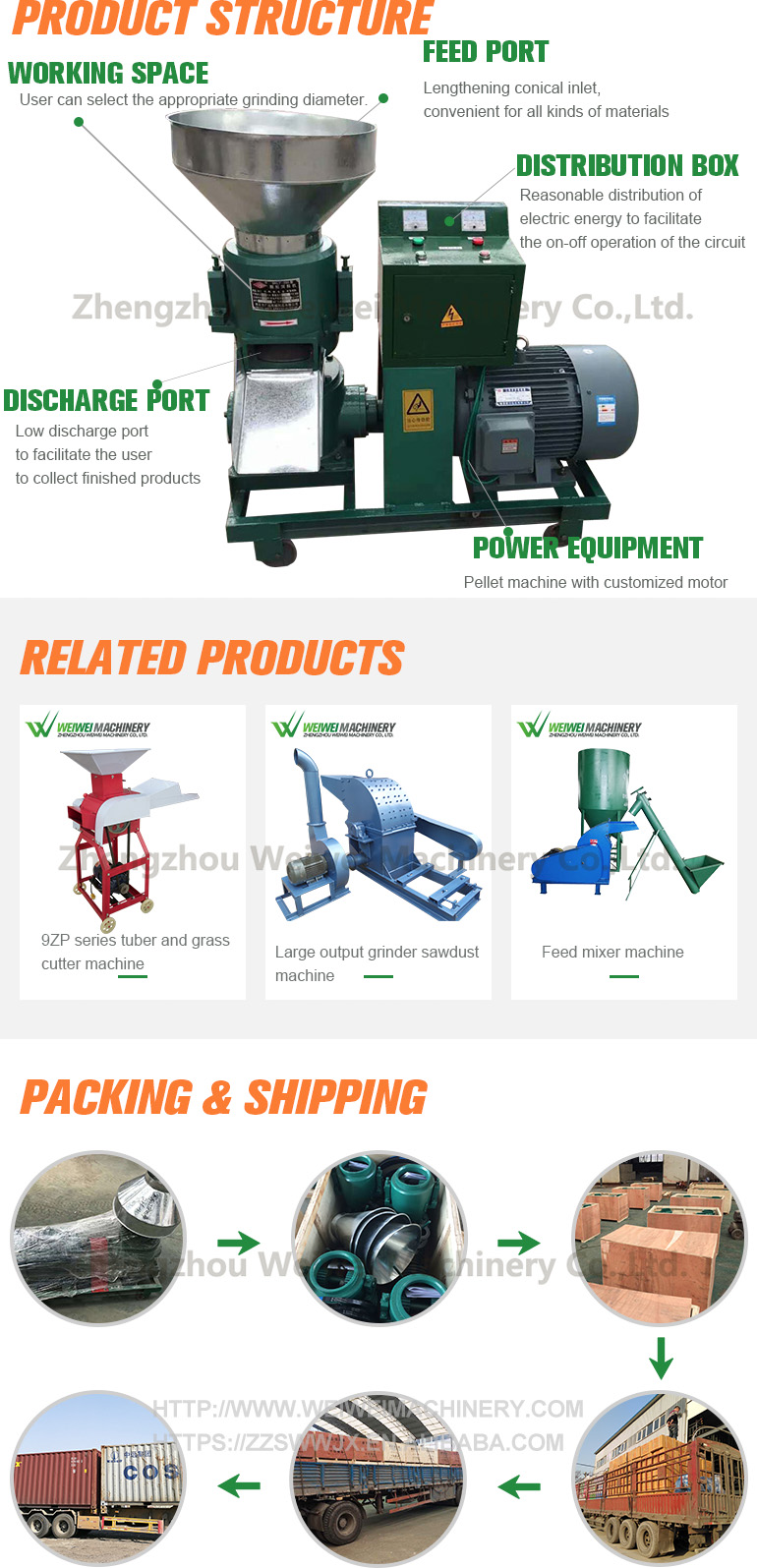 Fodder pellet mill machine