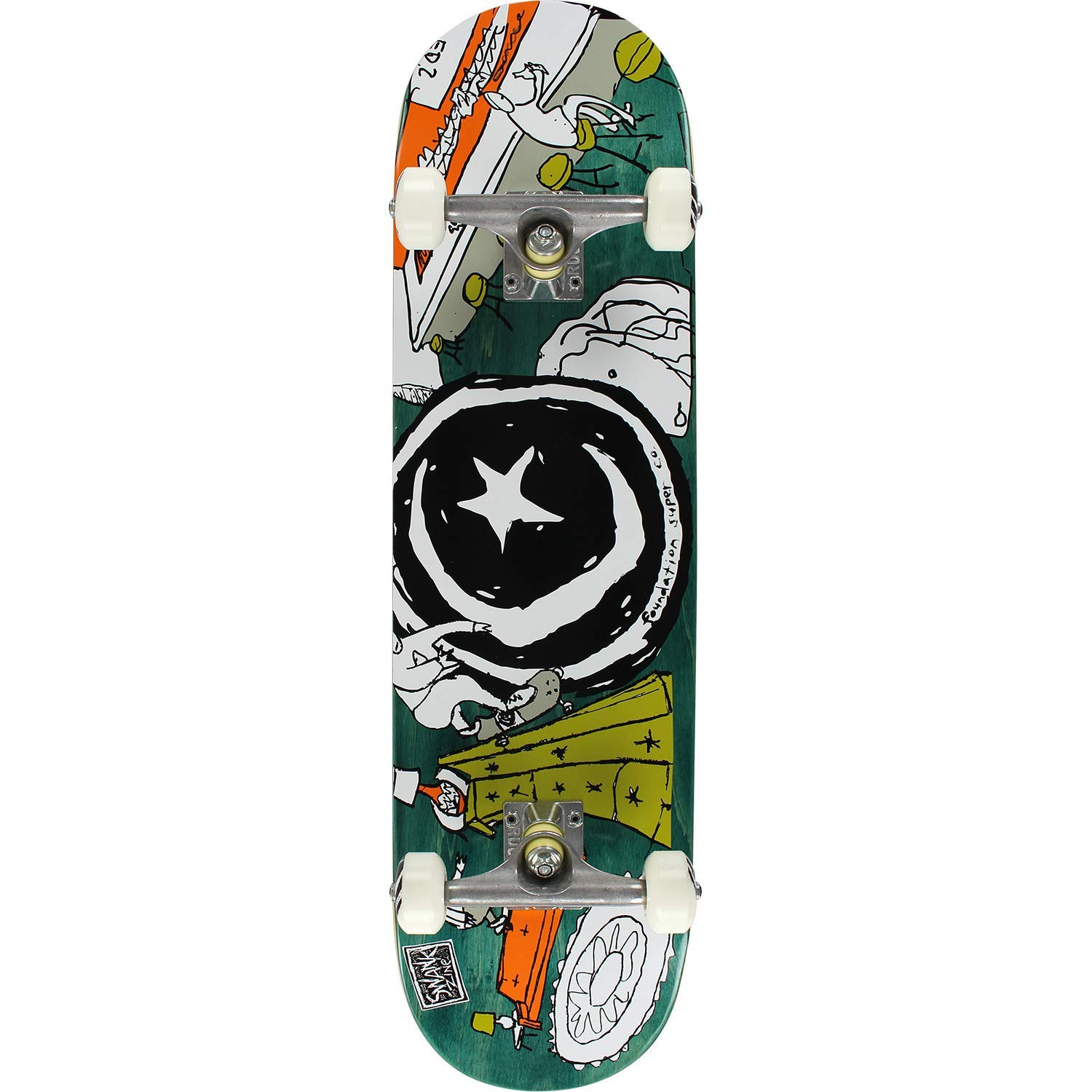 """Foundation Skateboards Star & Moon at Home Complete Skateboard - 8.25"""" x 32"""""""