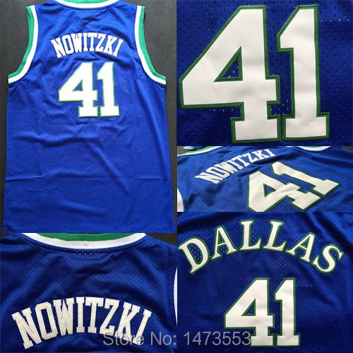 info for 791f3 783dc Dallas #41 Dirk Nowitzki Jersey Throwback, All Stitched Blue ...