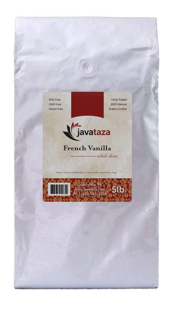 French Vanilla Whole Bean Coffee 5lb. - Fairly Traded, Naturally Shade Grown