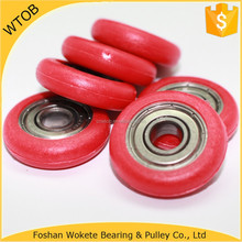 Nylon Small Deep Groove Ball Bearings Roller Plastic Pulley Wheels With Bearings For Door Windows