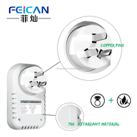 China supplier smartphone control switches electric wifi triple wall socket 220v