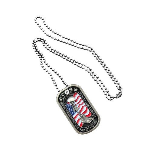 Necklace design metal last soldier military dog tag